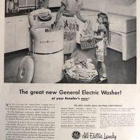 vintage ad for washing machine